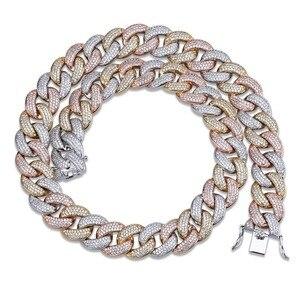 """Image 1 - Maimi cubana link corrente colar hip hop cor ouro dos homens iced para fora zircão cúbico colares jóias presentes 16 """" 30"""""""