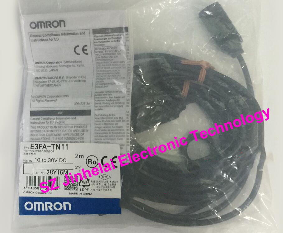 New and original E3FA-TN11, E3FA-TN21  OMRON Photoelectric sensor  10-30VDC  2M [zob] new original omron omron photoelectric switch e3s at11 2m e3r 5e4 2m