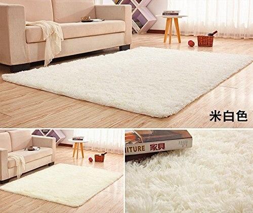 Très grande taille 200x400 CM soie laine tapis pour salon zone tapis doux pour chambre grande peluche Shaggy épaissir doux tapis
