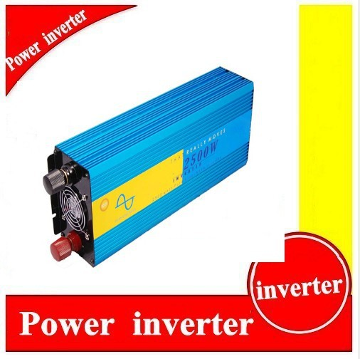 Pure sine wave inverter ,dc 24v to ac 100v 2500w solar inverter /power inverter ,CE&ROHS approved,50hz&60hz ,free shipping