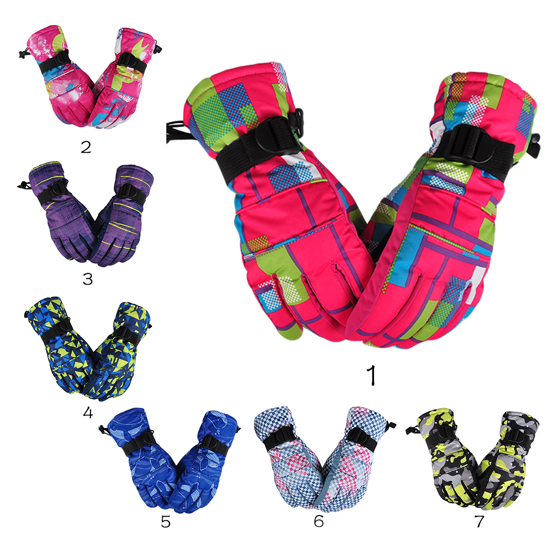 Ski Gloves Winter Waterproof Anti-Cold Warm Gloves Outdoor Sport Snow Sportswear Skiing ciclismo