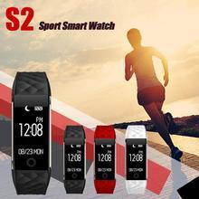 Динамический сердечный ритм обнаружения Bluetooth 4.0 LED Водонепроницаемый Смарт наручные часы браслет Спорт Часы