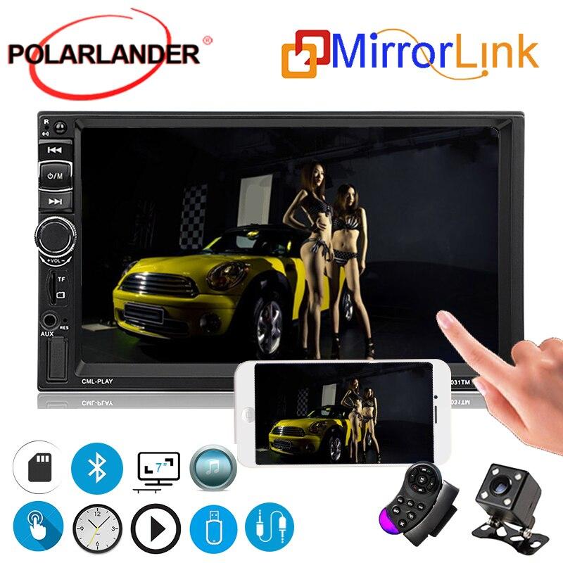 2 Din voiture moniteur 7031TM autoradio multimédia miroir lien pour Android écran tactile commande au volant Bluetooth FM/MP5/USB