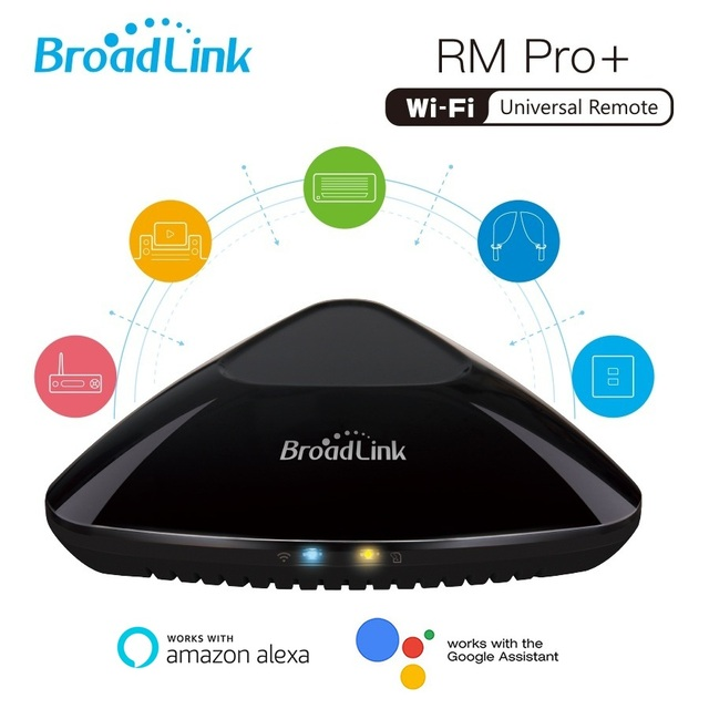 2019 nueva versión Broadlink RM Pro + hogar inteligente de la automatización inteligente Universal WIFI + IR + RF interruptor controlador remoto