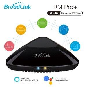 Image 1 - Broadlink RM Pro + пульт дистанционного управления для автоматизации умного дома, Универсальный WIFI + IR + RF переключатель, 2019