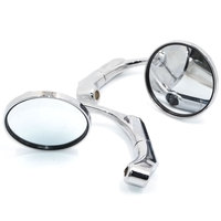 BJMOTO Universal Motorcycle Mirror Scooter Motocross Back Side Mirrors Rear View Mirror For Most Street Bike with 10MM Adapter
