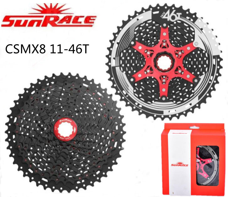 SunRace 11 speed CSMX8 11-46T Bicycle Freewheel Cassete SunRace Mountain MTB Bike Freewheel different to 9 10 Parts image