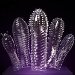 Расширения презерватив насадка-презерватив увеличить Для мужчин t Для мужчин спрей задержки клитор массажер вибрирующее кольцо для пениса