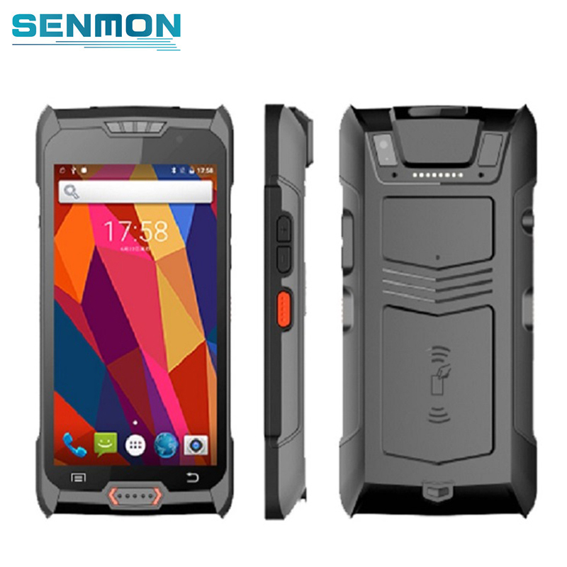 Freeship 5 Inch Touch Screen Handheld Mobile POS Terminal Rugged Wireless 4G WIFI Bluetooth Android 2D Barcode Scanner PDA
