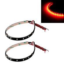 2 x String Lights 15 LED Strips 30 cm Red Light Chain 12V