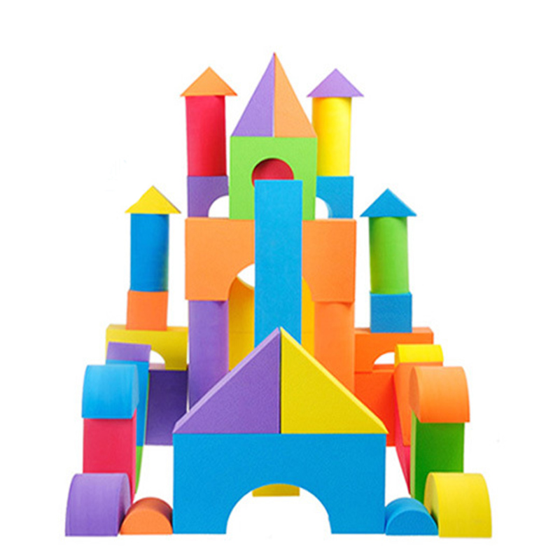 38PCS Hot Selling EVA Safe Children Building Brick Block Foam Construction Soft Toy Kid Kids Intelligence Exercise Assembled 48pcs good quality soft eva building blocks toy for baby