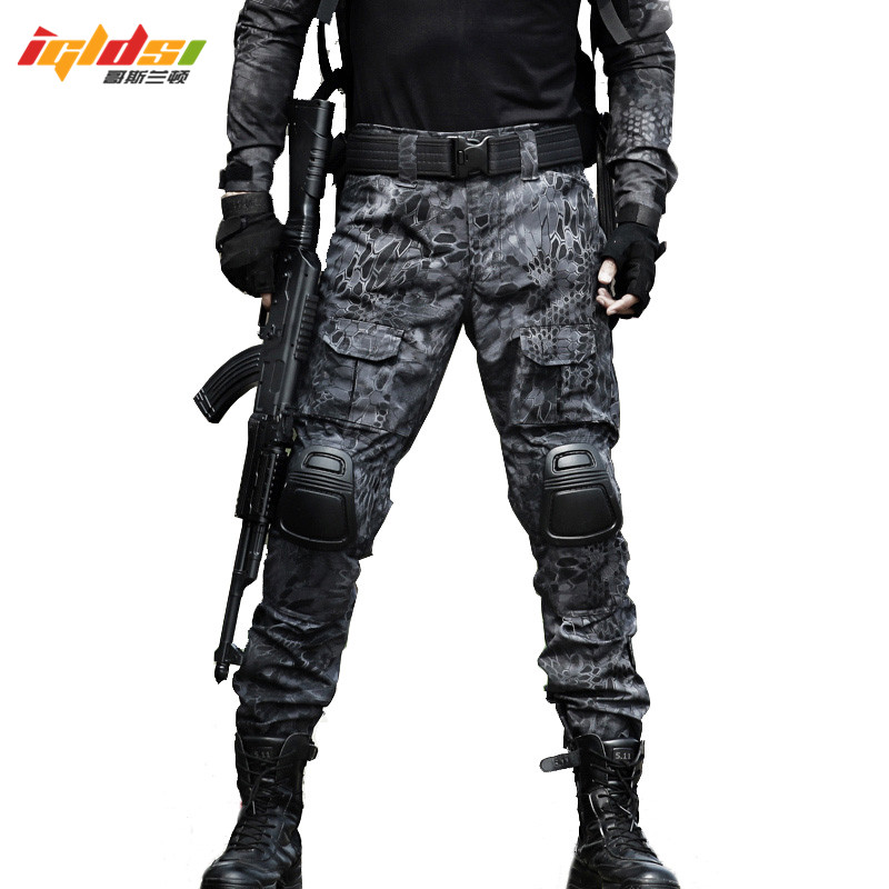 b7367c7c4f7e0 Military Tactical Pants Men Camouflage Overalls Cargo Pants SWAT Army  Airsoft Clothes Hunter Field Work Combat
