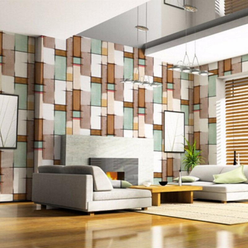 Beibehang 3d wallpaper flocking simple stripe 3d wallpaper bedroom, sitting room sofa bed background wallpaper for walls 3 d dirt road design 3 d large sitting room the bedroom room corridor screen maple mural wallpaper background picture papeles pintad
