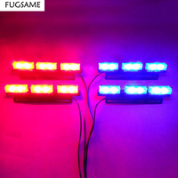 FREE SHIPPING Super Bright 4 6 LED Car Strobe Light High Power WHITE RED
