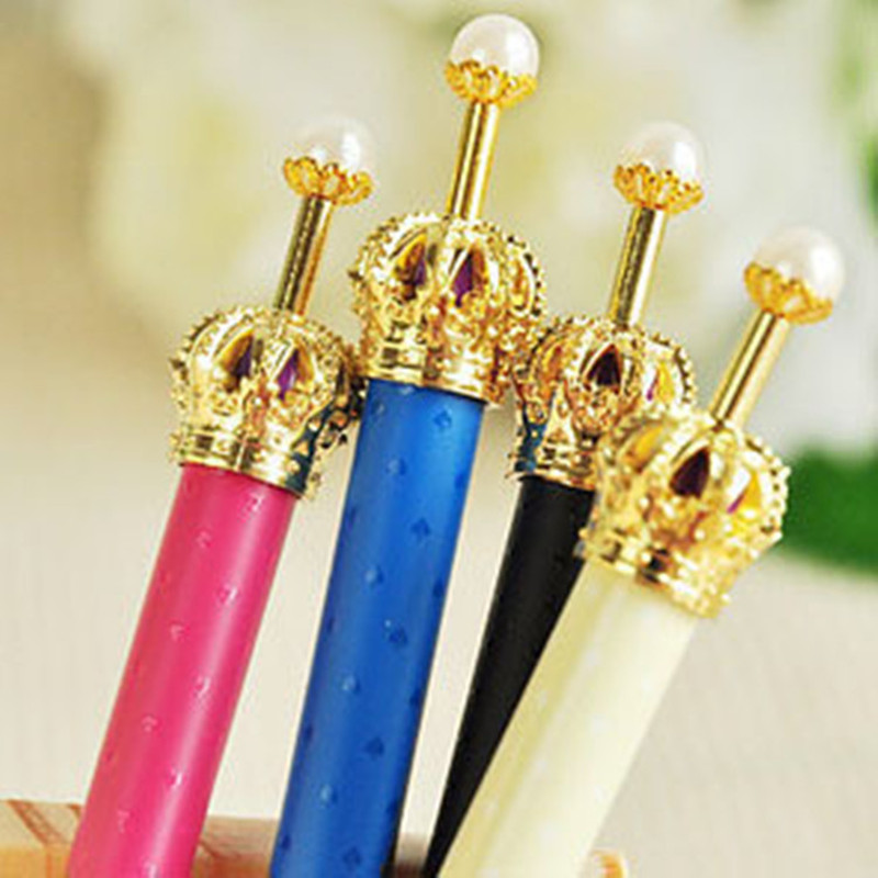 1 PC 0.5mm New Fashion & Cute Crown Style Ballpoint Pens Creative Press Pen Metal Ballpoint Pen