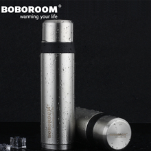500 ML Termo Taza Ventosa Taza de Acero Inoxidable de Negocios Caliente Termo Botella Botella De Agua de Aislamiento Térmico Thermomug BOBOROOM