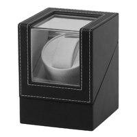 High Class มอเตอร์ Shaker นาฬิกา Winder ผู้ถือจอแสดงผลอัตโนมัตินาฬิกากล่องเครื่องประดับนาฬิกากล่องใหม่สีดำ-ใน กล่องหมุนนาฬิกา จาก นาฬิกาข้อมือ บน