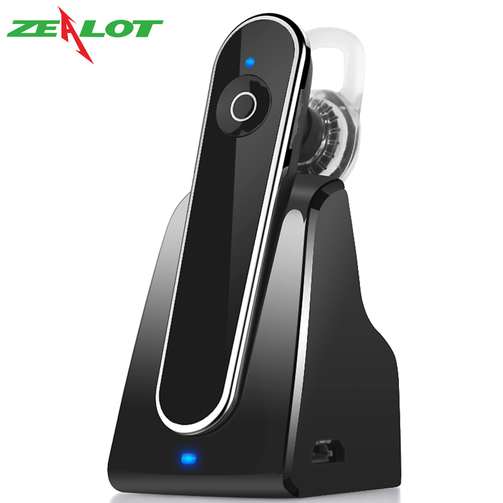 Original Zealot E5 Wireless Bluetooth Stereo Earphone Noise Isolation Handsfree Business Earphones with Mic Car Kit with Dock mini stereo car bluetooth headset wireless earphone bluetooth handsfree car kit with 2 usb base charging dock