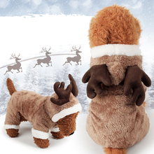 Cosplay Deer Pet Dog Chihuahua Clothes For Small Plush Costume Cat Clothing Overalls Puppy Teddy Hoodie Jumpsuit S-XL