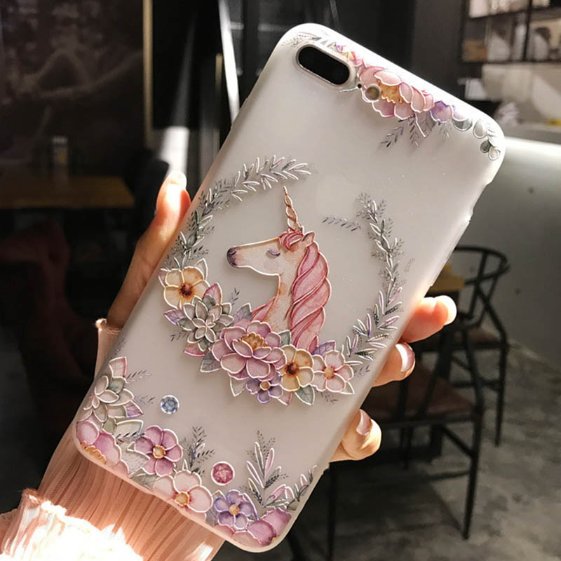 3D Relief TPU Flowers Cover For Xiaomi Redmi