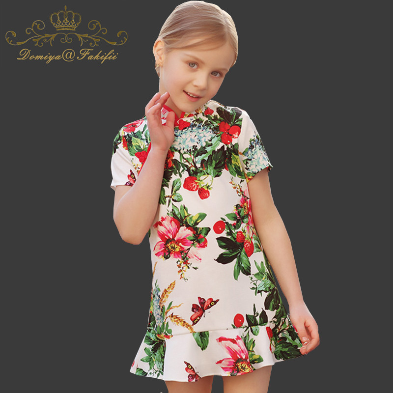 Kids Dress Girls Clothes Vestido Princesa 2018 Summer Elsa Dress Wedding Reine Des Neiges A-line Children Dress for Kids Navidad женское платье 2015 desigual vestido summer dress