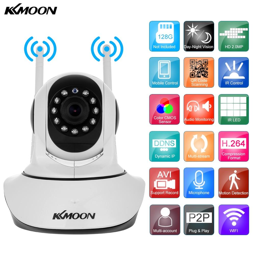 bilder für KKmoon 1080 P Drahtlose WIFI Ip-kamera HD 2MP Pan Tilt zwei-wege Audio Nachtsicht Telefon APP Control Motion Detection Tf-einbauschlitz