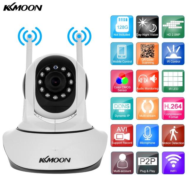 KKmoon 1080P Wireless WIFI IP Camera HD 2MP Pan Tilt Two-way Audio Night Vision Phone APP Control Motion Detection TF Card Slot