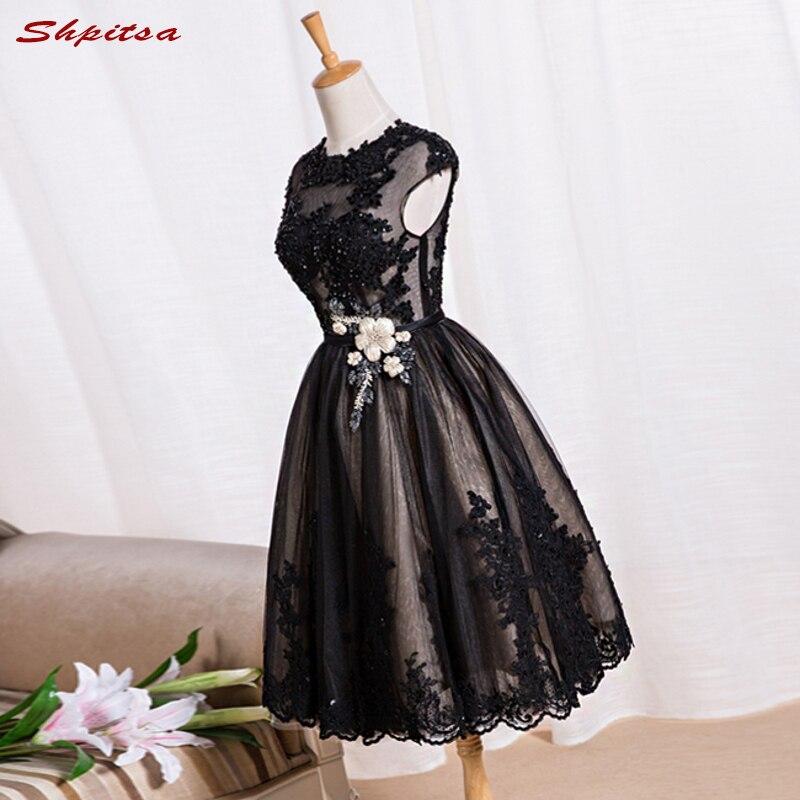 Sexy Short Lace Cocktail Dresses Women Little Black Short Prom Dress Graduation Party Coctail Dress vestido de festa curto