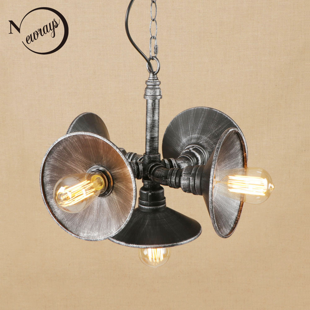 Vintage iron painted black pendant lamp LED 5 lights Pendant Light Fixture E27 110V 220V For Kitchen hotel dining room bar new chinese style vintage pendant lights wood and bamboo for dining room hotel hall home loft led pendant lamp light ac110v 220v