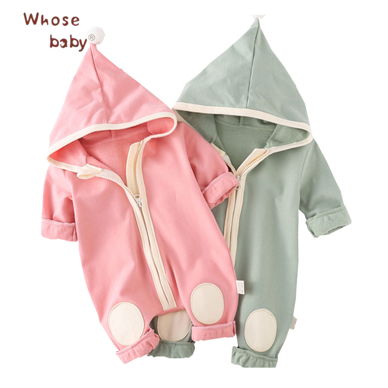 Newborn Clothes Baby Girls Romper Hooded Clothes For Children Cute Baby Jump Suit Infant Clothing 2017 Autumn Baby Girls Romper hhtu 2017 infant romper baby boys girls jumpsuit newborn clothing hooded toddler baby clothes cute elk romper baby costumes