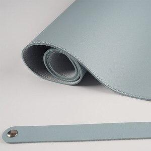 Image 5 - 100X50CM דו צדדי לשימוש משטח עכבר נייד גדול משחקי שטיחי עכבר עמיד למים עור מפוצל שולחן גרנד מחצלת גיימר עבור Dota LOL