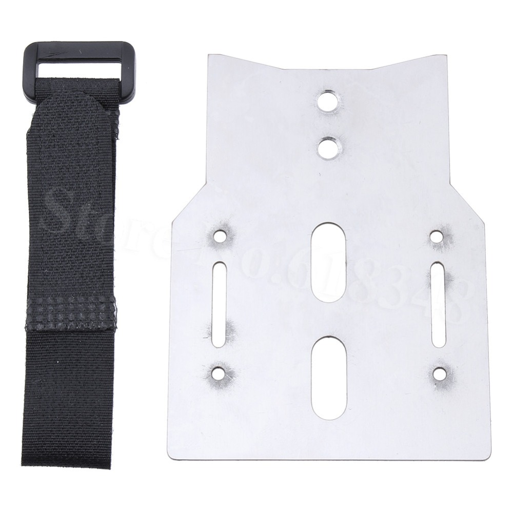 Stainless Steel Metal Battery Holder Expansion Pate Mount with Tie Down Strap for Traxxas Trx-4 TRX4 RC Crawler Car