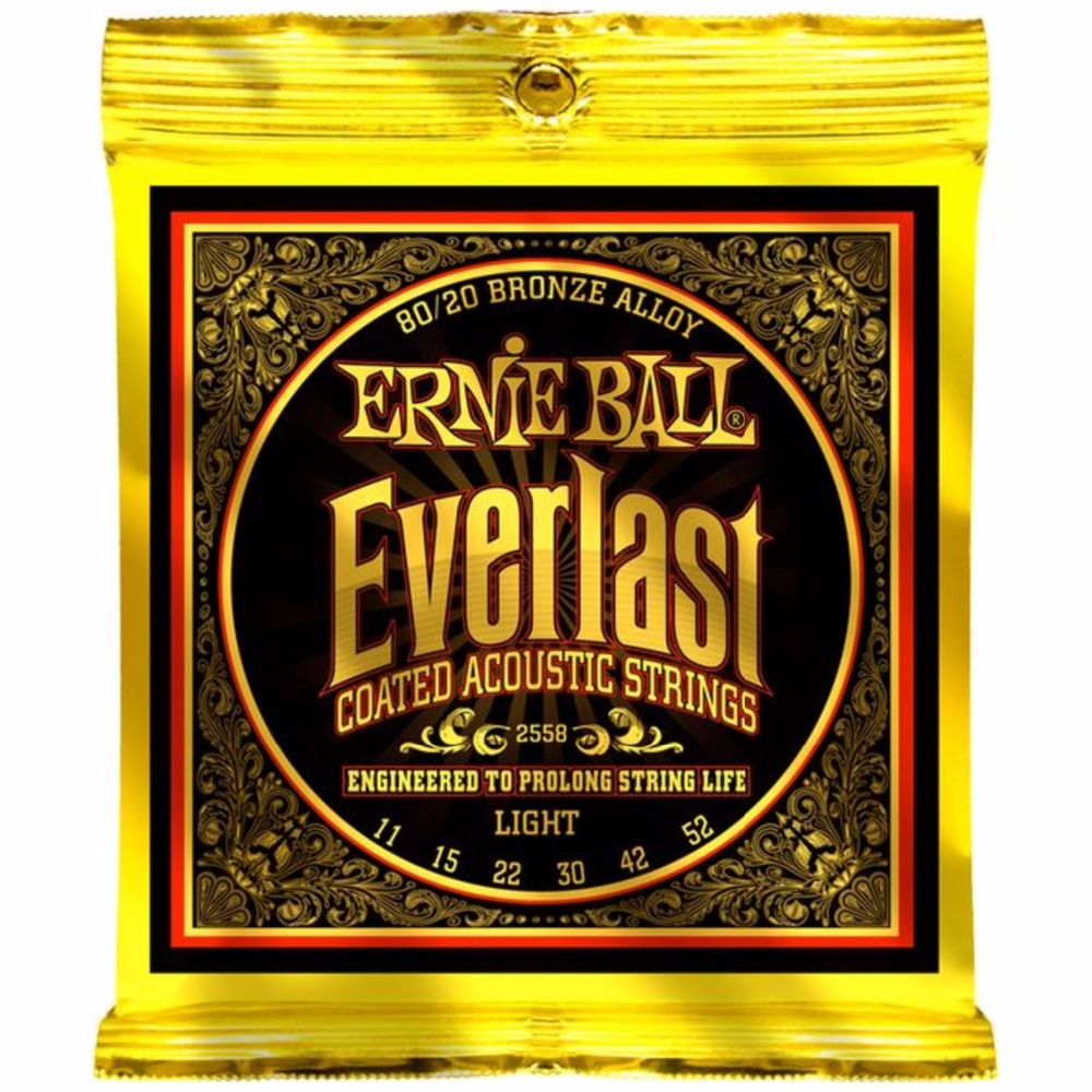 Ernie Ball 2558 Everlast 80/20 Bronze Light Acoustic Guitar Strings 011-052 promotion 6pcs embroidery baby bedding set quilt pillow bumper bed sheet crib bedding set include bumper duvet bed cover