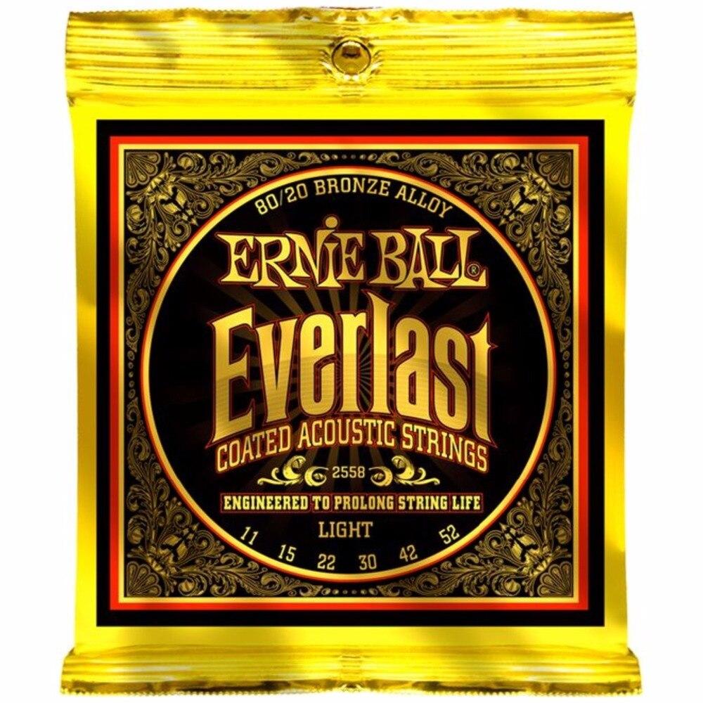 Ernie Ball 2558 Everlast 80 20 Perunggu Cahaya Acoustic Guitar Rak Sepatu Sr Strings 011 052