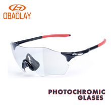 Obaolay Polarized Photochromic Cycling Glasses Unisex MTB Sunglasses Fashion Frameless Fietsbril Outdoor Sports Gafas ciclismo