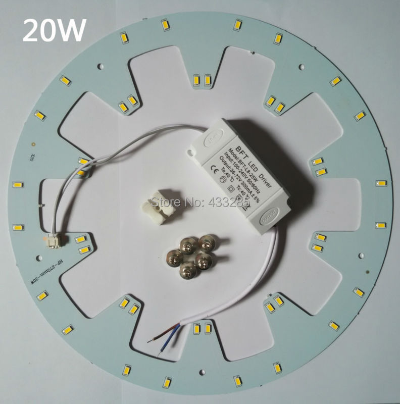 где купить Free shipping 20w LED PANEL Circle Light AC85-265V SMD5730LED Round Ceiling board the circular lamp +power supply+Magnetic по лучшей цене
