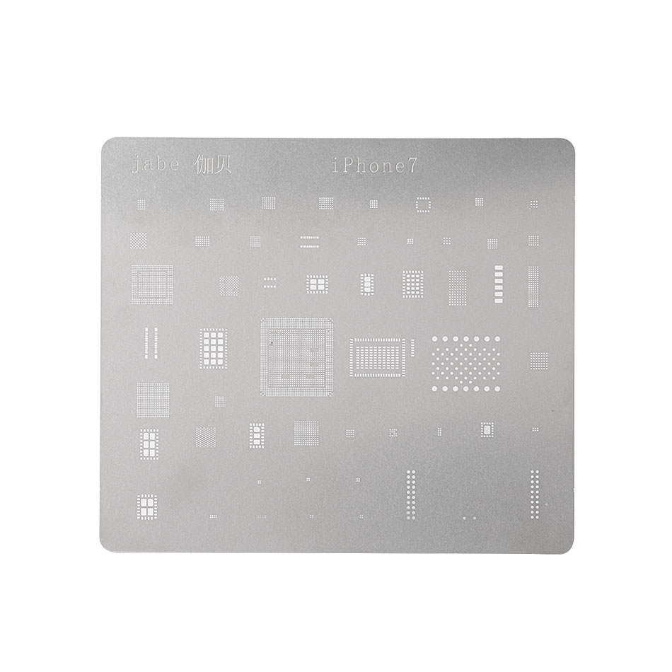 DIYFIX Phone Logic Board Repair Tool For IPhone 7 6s 6 5s 5 Motherboard IC Chip Ball Soldering Net Stainless Steel Plate