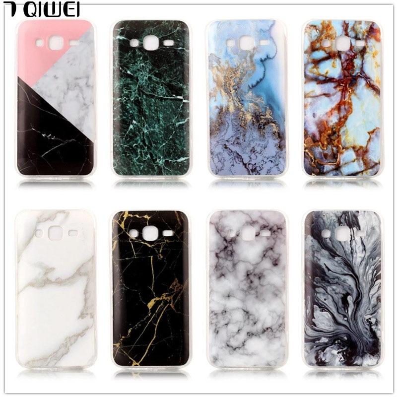 Galleria fotografica For Samsung J5 2015 Case Granite Marble Skin Soft TPU Back Cover Case for Samsung Galaxy J5 2016 J3 J7 2015 Silicon Phone Cases
