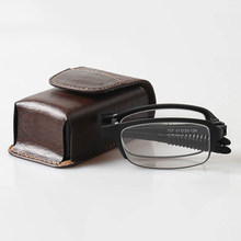 2019 Half Frame Plastic Diopter1.5 2.0 2.5 Frame Foldable Slim GlassesReading Glasses Men Women Presbyopic Eyeglasses Case Watch(China)