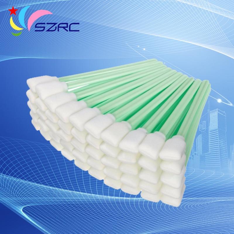 50 unidades de bastoncillos unids de esponja para Epson Roland Mimaki Mutoh todo gran formato solvente impresora cabezal de impresión limpieza bastoncillos de espuma