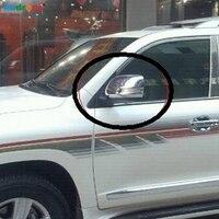 Für Toyota Land cruiser FJ200 2008 2011 Chrome Side spiegel abdeckung Auto trim rückspiegel flügel spiegel Zurück spiegel auto modell-in Spiegel & Abdeckungen aus Kraftfahrzeuge und Motorräder bei