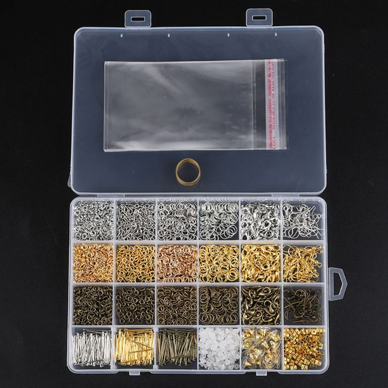 3000 PCs Silver Gold Bronze Color Alloy Open Jump Rings For DIY Jewelry Making Components Mixed 1 Box