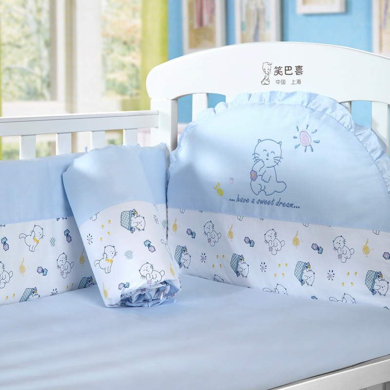 Elegant Blue Kitten Piece Set Baby Bedding Kit Bed Sheets Bed By Bed Around Piece  Set C In Bedding Sets From Mother U0026 Kids On Aliexpress.com | Alibaba Group