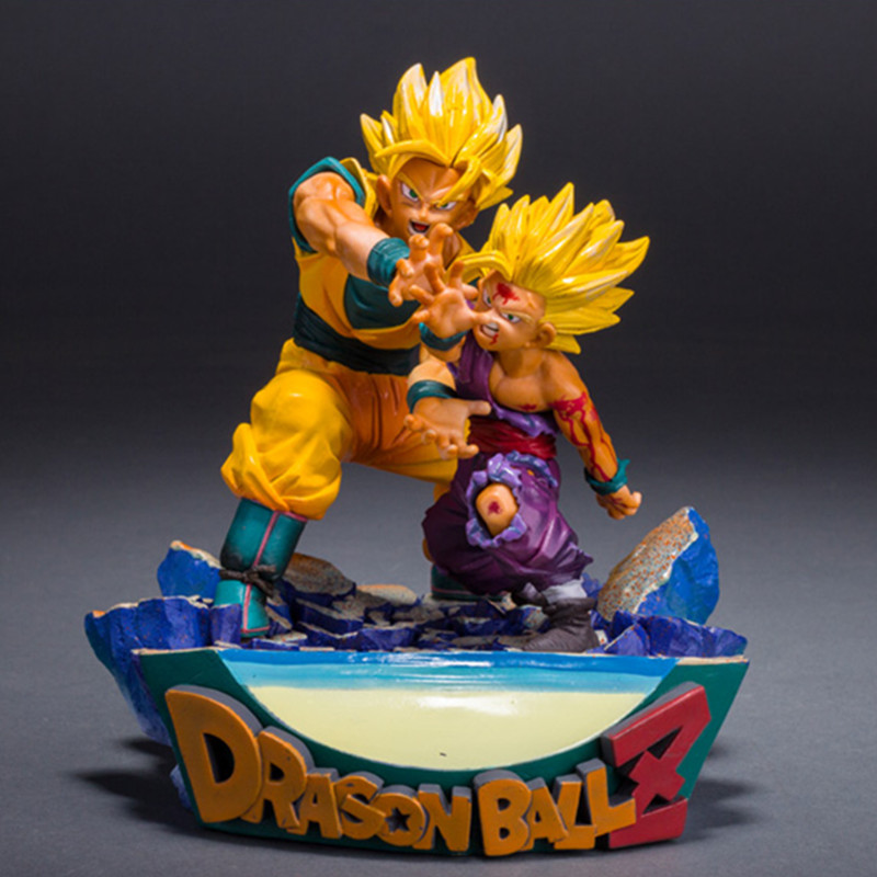 Dragon Ball Z Son Goku Son Gohan Parent-child Shock Wave DS Classic Scene PVC Action Figure Collection Model Toy G1818 the son gohan dragon ball z action figure model 20cm pvc son goku figure toys for collection kids toy