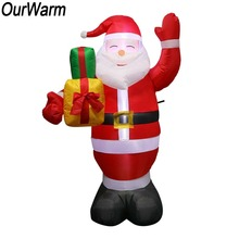 OurWarm 150cm Inflatable Santa Claus Air Pump Inflatable Toys Inflatable Christmas New Year Decorations Party Blow Up Decor цена в Москве и Питере