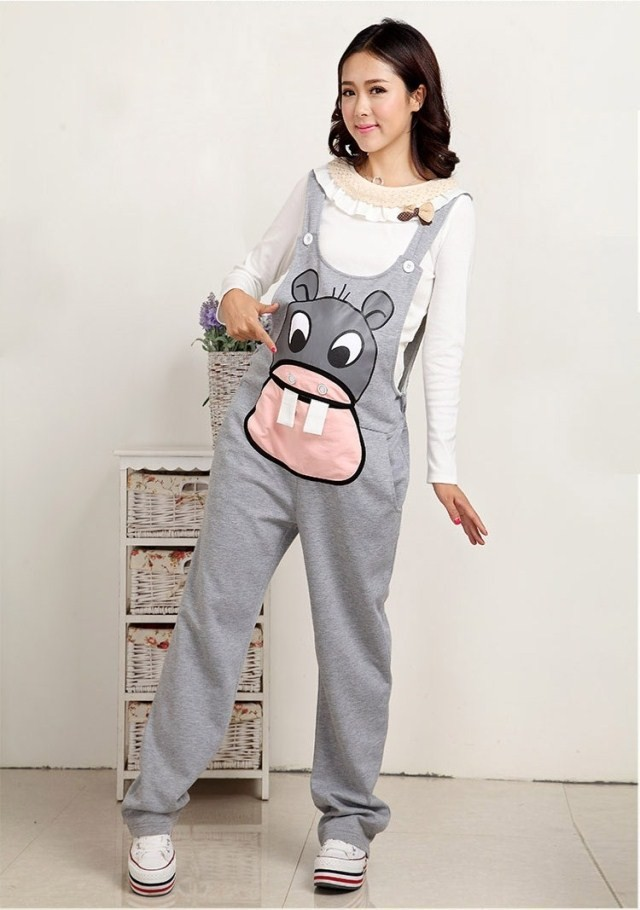 9f699af27312 Pregnant Overalls Maternity Pants Long Pregnancy Clothes For ...
