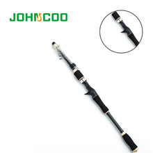JOHNCOO Casting Telescopic Fishing Rod Set with 9+1BB Reel Sea Fishing Rods 1.8m/2.1m/2.4m/2.7m Travel rod Combo