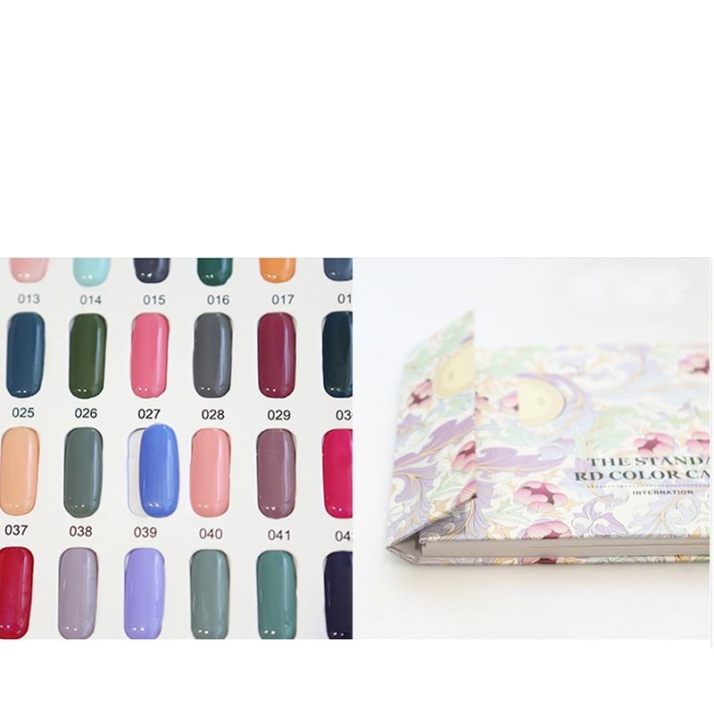 Professionele manicure kleur kaart boek 120 kleur nagellak kleur - Nagel kunst - Foto 3