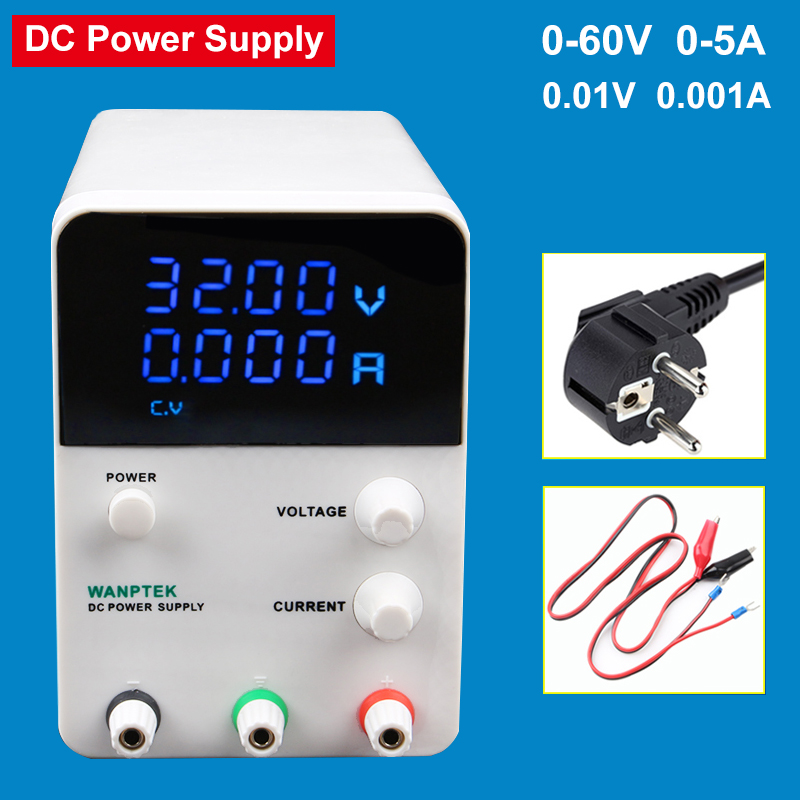 Laboratory DC power supply Adjustable DC power supply 0-60V 0-5A LCD 4 digit display voltage notebook repair power supply four digit display rps3003c 2 adjustable dc power supply 30v 3a linear power supply repair