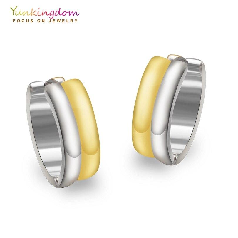 Yunkingdom Punk Hoop Earrings For Women Tungsten Steel Earring Rock Round Ue0028 In From Jewelry Accessories On Aliexpress